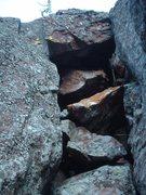 Rock Climbing Photo: One of the many chimneys.