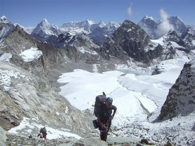 Rock Climbing Photo: On the way to High Camp at 18,500-ft.