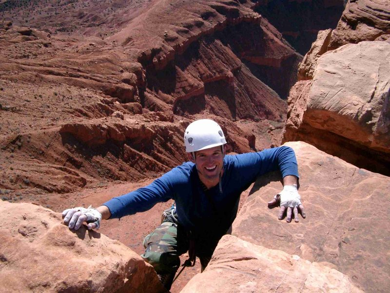 Rock Climbing Photo: Topping out on Fine Jeade