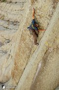 Rock Climbing Photo: Some Like it Hot (5.12b). Devils Tower, WY