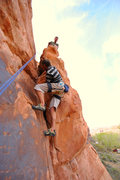 Rock Climbing Photo: Campground crack in Williams Bottom. Potash, Moab