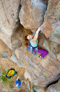 "Rock Climbing Photo: Leah Sandvoss pulling the roof on ""Kathy's Me..."