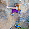 "Leah Sandvoss on ""Deviate Behavior"", 5.11+ at Mission Gorge, San Diego, Ca"