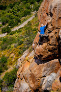 "Rock Climbing Photo: John Tyhonas on ""The Tower"", 5.7 at Miss..."