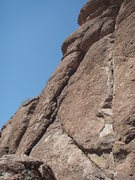 Rock Climbing Photo: The crack on the right is 'Mr. Solo'.