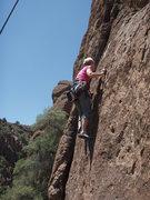 Rock Climbing Photo: Susan on 'Tendon Teaser'