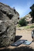 Rock Climbing Photo: Marta Molina topping out on North Flake.