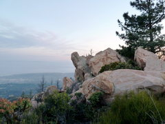 Rock Climbing Photo: View from the approach trail. The Sunrise Tango is...