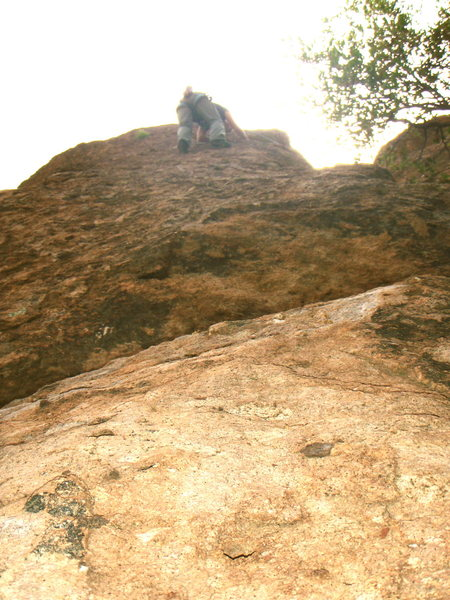 Rock Climbing Photo: The exposure of this route is cool... but easy cli...