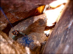 Rock Climbing Photo: Coming down Too Stiff To Tip with artistic renderi...