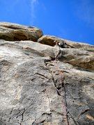 Rock Climbing Photo: Shannon leading Nutcracker.