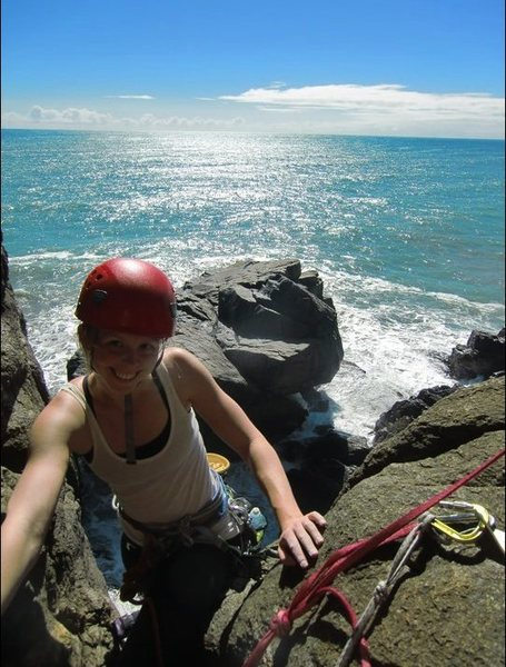 Rock Climbing Photo: climbing at Charleston, NZ