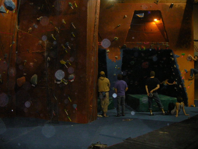 Rock Climbing Photo: Dual level bouldering caves.