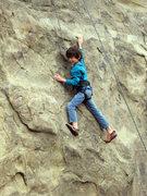 Rock Climbing Photo: Bryn Owen (7) on Center Route.