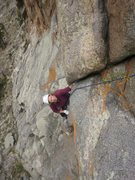 Rock Climbing Photo: The perfect hand crack after the hand traverse on ...