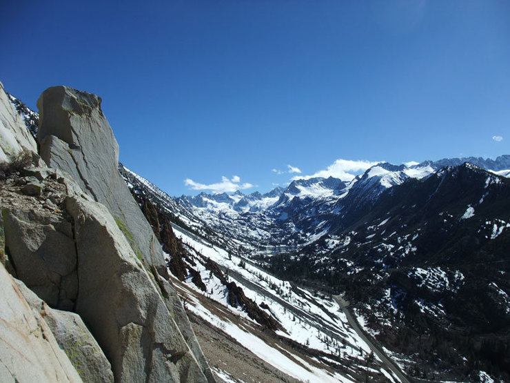Rock Climbing Photo: view of Lake Sabrina and environs from the West Fa...