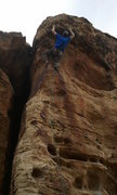 Rock Climbing Photo: Clipping the bulge on Puppet Strings at Green Vall...