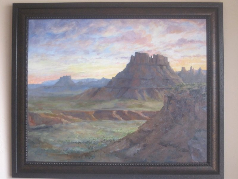 "Original Oil Painting of Canyon Lands by Marea Goodman-Ross. 29""X 35"" for sale...SOLD"