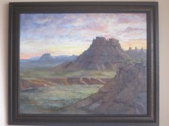 Rock Climbing Photo: Original Oil Painting of Canyon Lands by Marea Goo...
