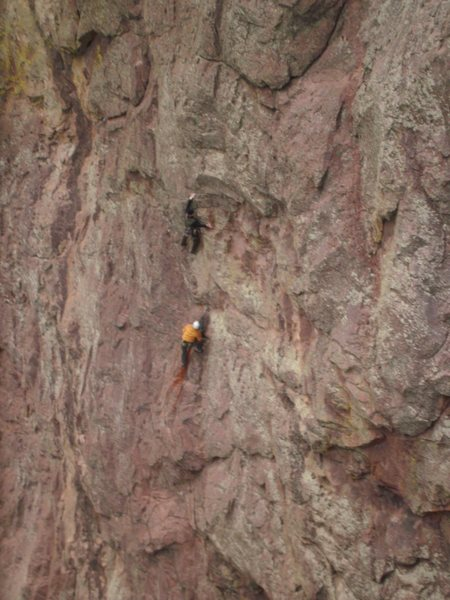 Rock Climbing Photo: Starting the crux on Sticky Feet.  This guy pulled...