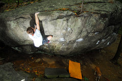 Rock Climbing Photo: Chris hitting the final jug and flashing Iron Cros...