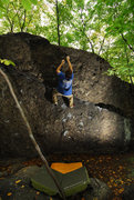 Rock Climbing Photo: Chris sending Reefer Madness.   Sept. 26th, 2010. ...