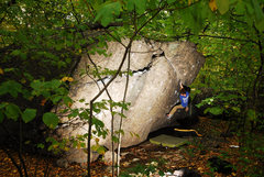 Rock Climbing Photo: Chris trying to find fingers and feet on the Templ...