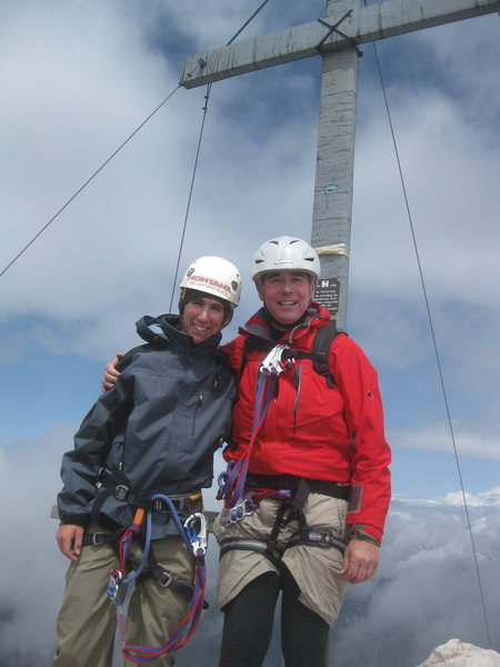 Dad and I on the Summit of the Alpspitze
