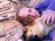 Rock Climbing Photo: Samson and I at the base of a climb in Red Rock, f...