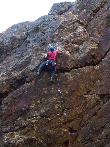 Rock Climbing Photo: Floyd Hayes leading Bolt Route 5.10c. Photo by a p...