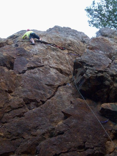 Rock Climbing Photo: Roy Benton leading Right Corner 5.7. Photo by Floy...