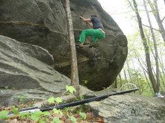 Rock Climbing Photo: start to jug haul traverse v0