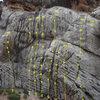 Far left side of Kelly's Rock<br> 1.  [[K-1]]107209273 (5.10a)<br> 2.  [[Wet My Whistle]]106011806 (5.8)<br> 3.  [[Unknown 3]]107147227 (5.8)<br> 4.  [[Unknown 2]]107088508 (5.8)<br> 5.  [[Unknown 1]]106576878 (5.6)<br> 6.  [[The Awakening]]107147274 (5.9)<br> 7.  [[K-3]]107147355 (5.9)<br> 8.  [[Topless Vegetables]]107072603 (5.9)<br> 9.  Anchors for K-4 (5.11b)