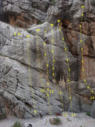 Rock Climbing Photo: Left Center of Kelly's Rock 8.  Anchors for Toples...