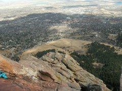 Rock Climbing Photo: The first flatiron in Boulder.