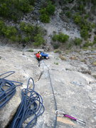 Rock Climbing Photo: There is a lot of fun Limestine crack on this clim...