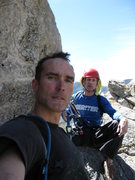 Rock Climbing Photo: Mike and I hanging out at the top enjoing the view...