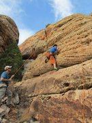 Rock Climbing Photo: TR'ing the Dead Dog.