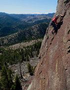 Rock Climbing Photo: Me on Land of Ra, Cadillac Crag, Eldorado.  Thanks...