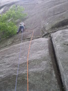 Rock Climbing Photo: Mary at the start of Pooter the Poacher.  Notice t...