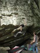 Rock Climbing Photo: Dobbe at the lip.