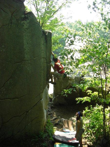 Rock Climbing Photo: Dobbe styling Graham Crackers.