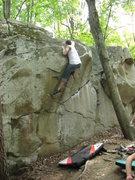 Rock Climbing Photo: Aaron at the top.