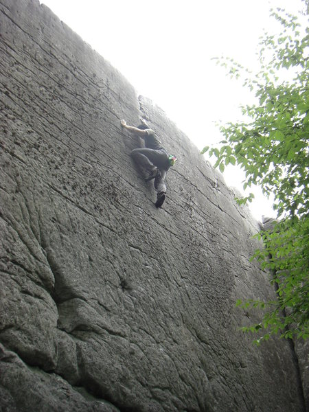 Rock Climbing Photo: Dobbe storming the castle.