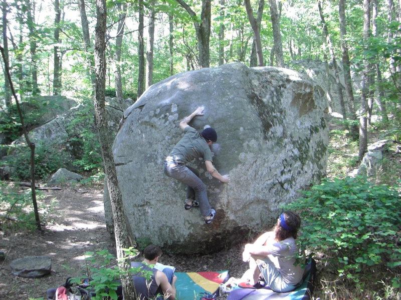 Rock Climbing Photo: Dobbe on Kingpin.