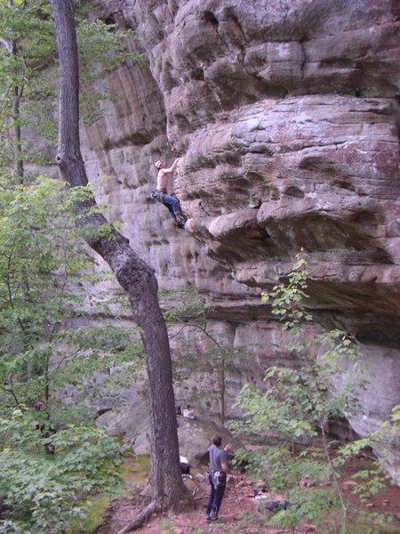 Rock Climbing Photo: Remove La Ropa.  A classic power route!