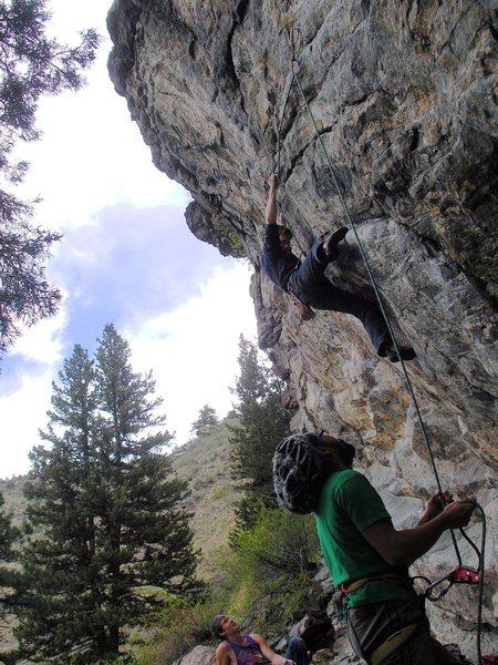 Rock Climbing Photo: Heading up Anatomic.