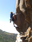 Rock Climbing Photo: Michael Stearns at the crux of Warrior Crack