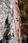 Rock Climbing Photo: Getting steep again.