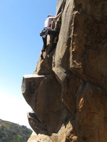 Adrienne on the upper part of Warrior Crack